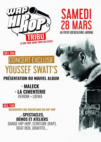 Flyer youssef wap hip hop 2020 recto